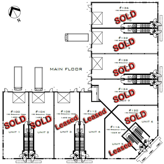 Broadview Center main floor plan