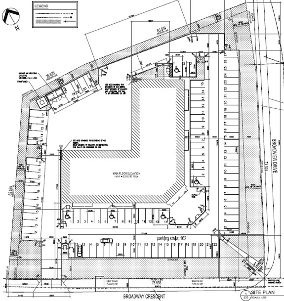 Broadview Center site plan