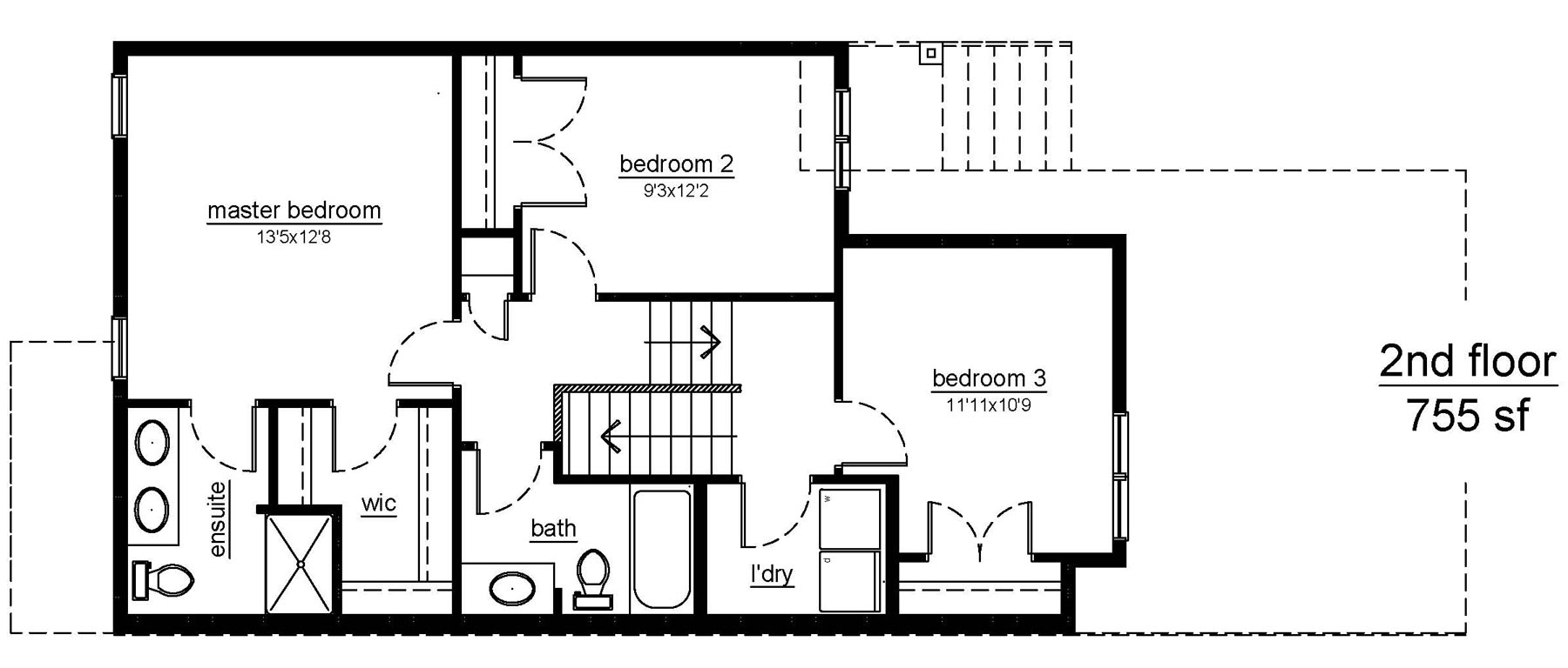 The Arlington - 2nd floor plans