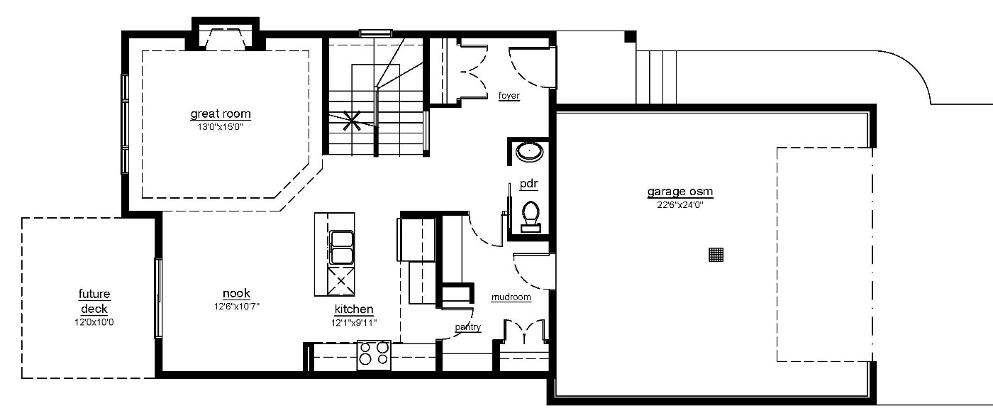 The Beechwood - main floor plan