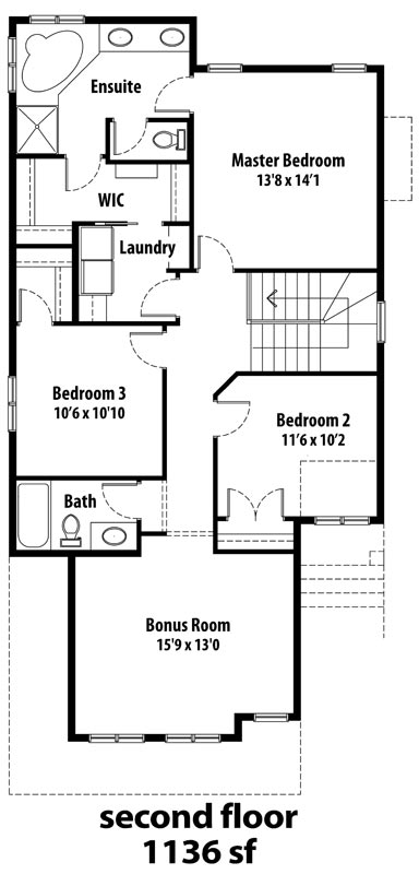 The Brentwood II - 2nd floor plans