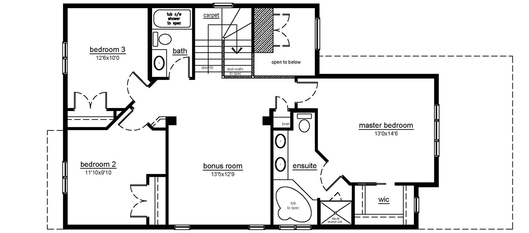 The Brookville II - 2nd floor plan
