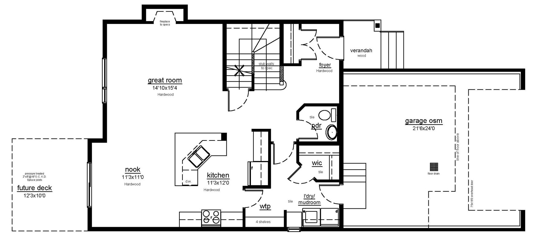 The Brookville II - main floor plan