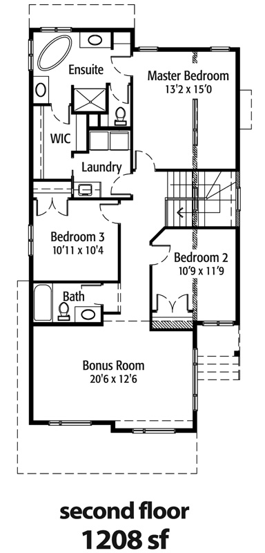The Copperwood - 2nd floor plans