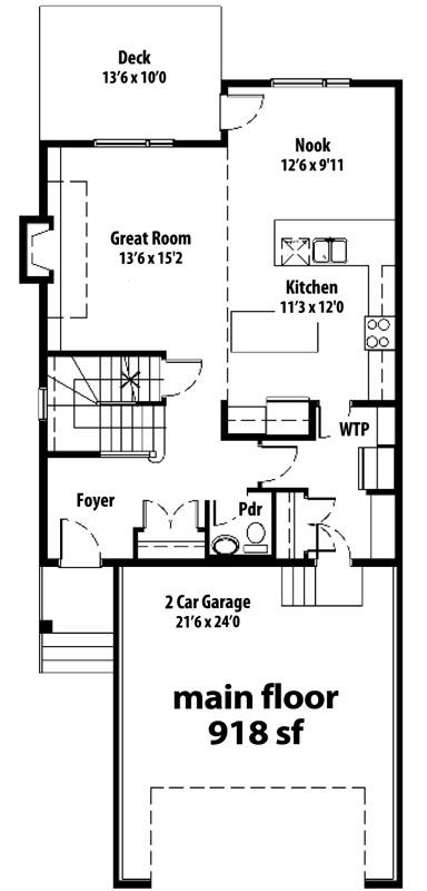 The Cottswood - main floor plan