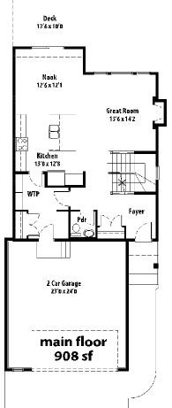 The Cottswood II - main floor plan