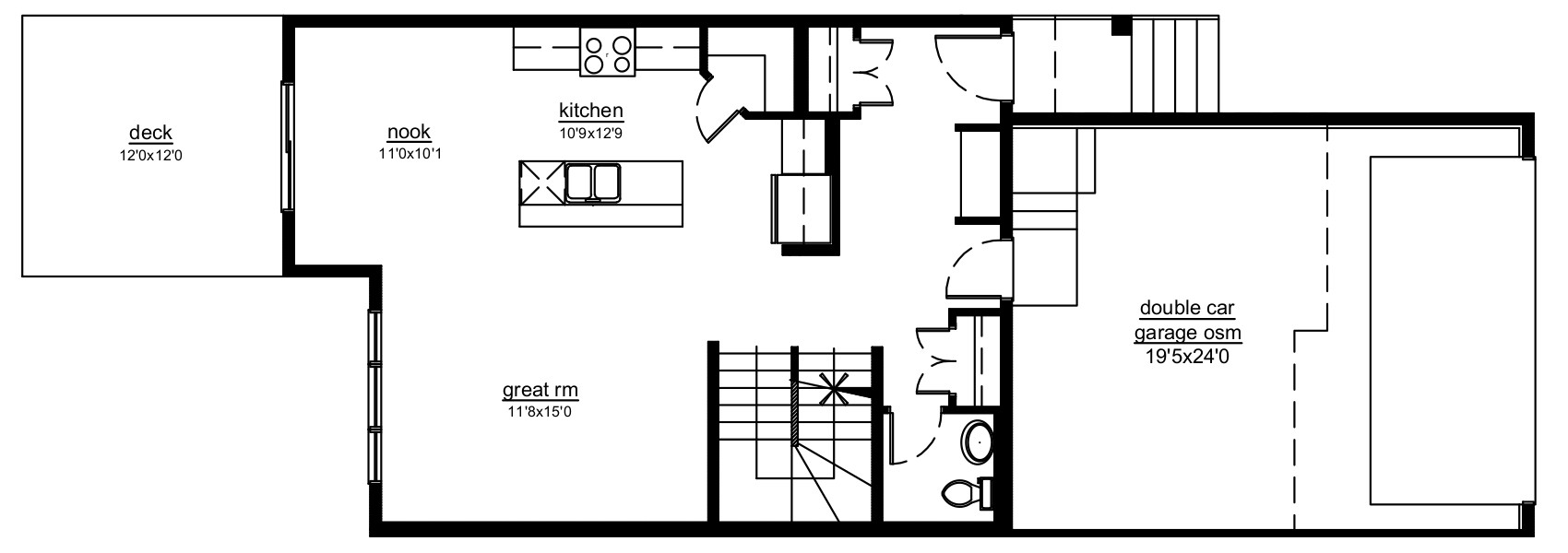 The Kensington - main floor plan