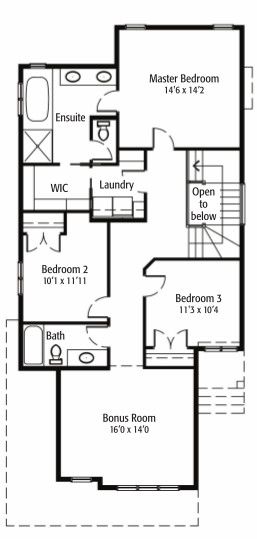 The Redwood - 2nd floor plans